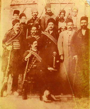 Mo's Great Grandfather, regional ruler of central Iran with his bodyguards, 1905